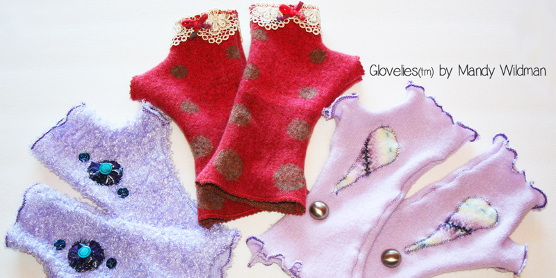 Fingerless gloves by Mandy Wildman