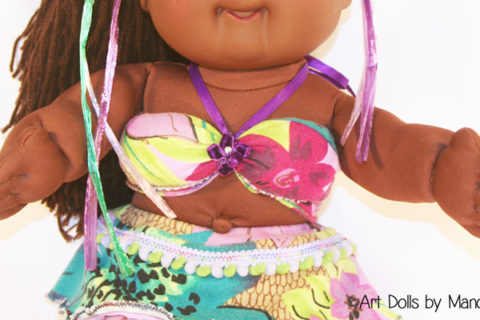 Purple Cabbage Patch Doll Mermaid Makeover