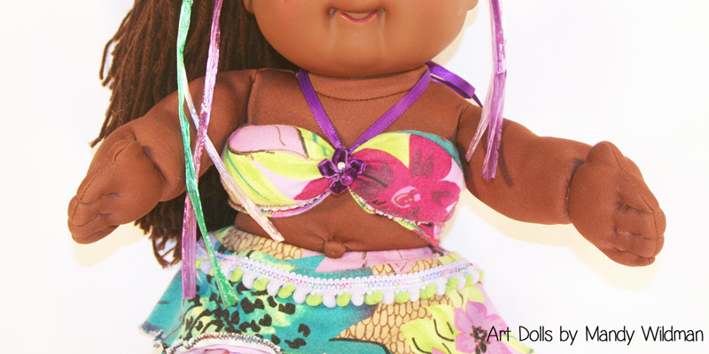 Purple Cabbage Patch Mermaid