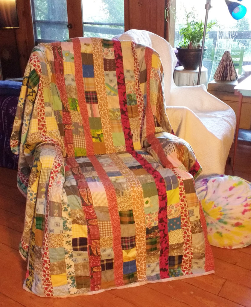 large colorful arm chair
