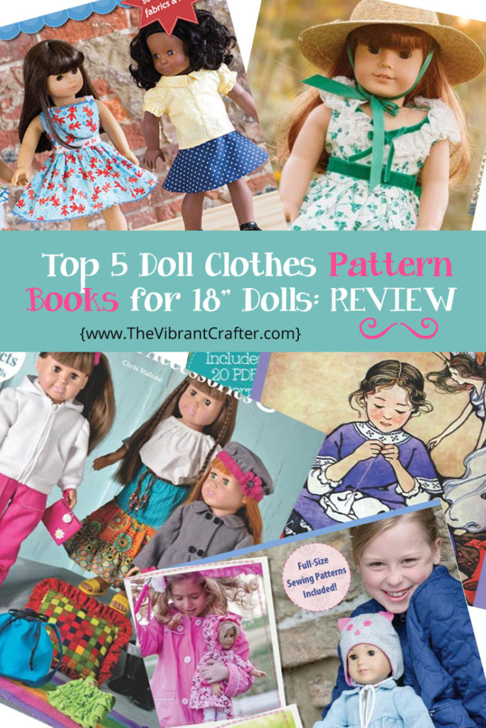 Top Five 18 Inch Doll Clothes Pattern Books