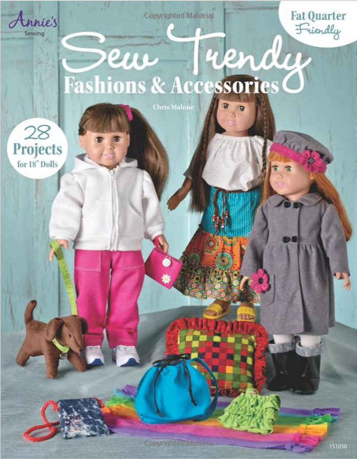 Chris Malone 28 Doll Clothes Patterns for 18 Inch Dolls