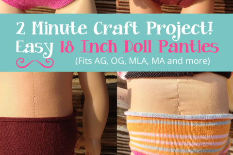 DIY 18 Inch Doll Panties – How To Make No-Sew Doll Undies from Old Socks or Tights