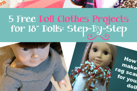Five Free Doll Clothes Patterns for 18 Inch Dolls