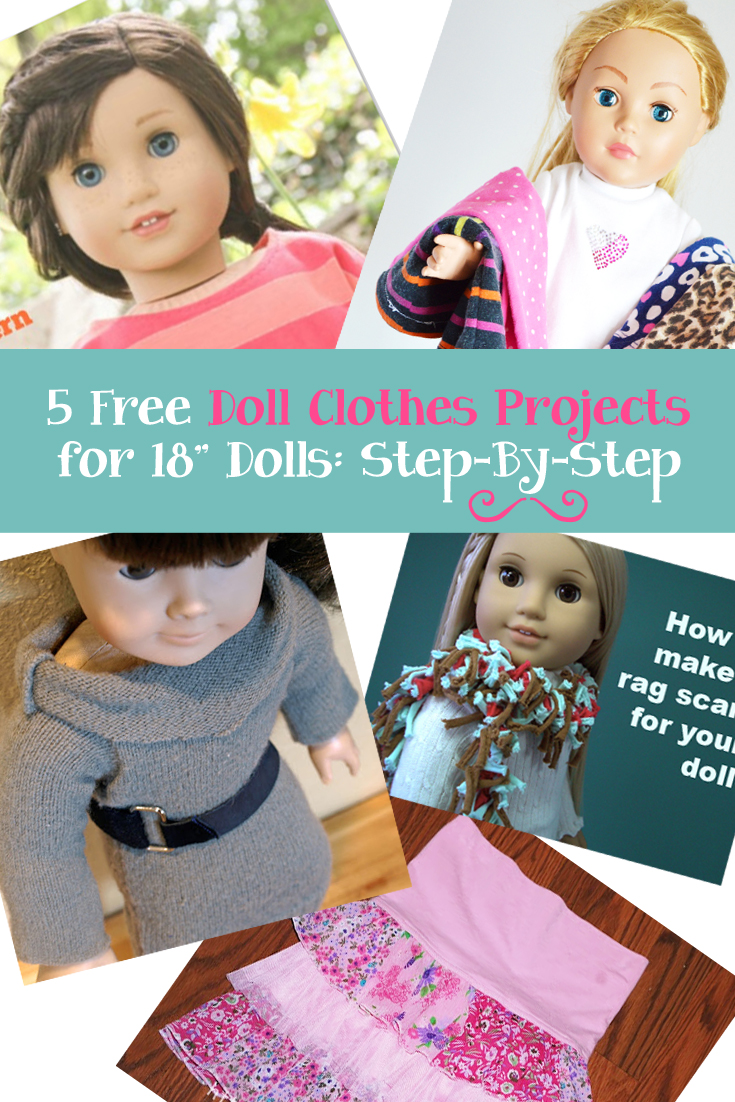 5 Free Doll Clothes Patterns for 18 inch dolls