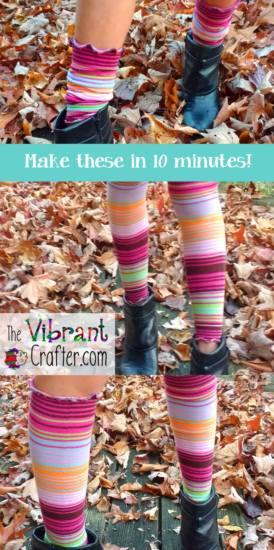 Ten Minute DIY Leg Warmers