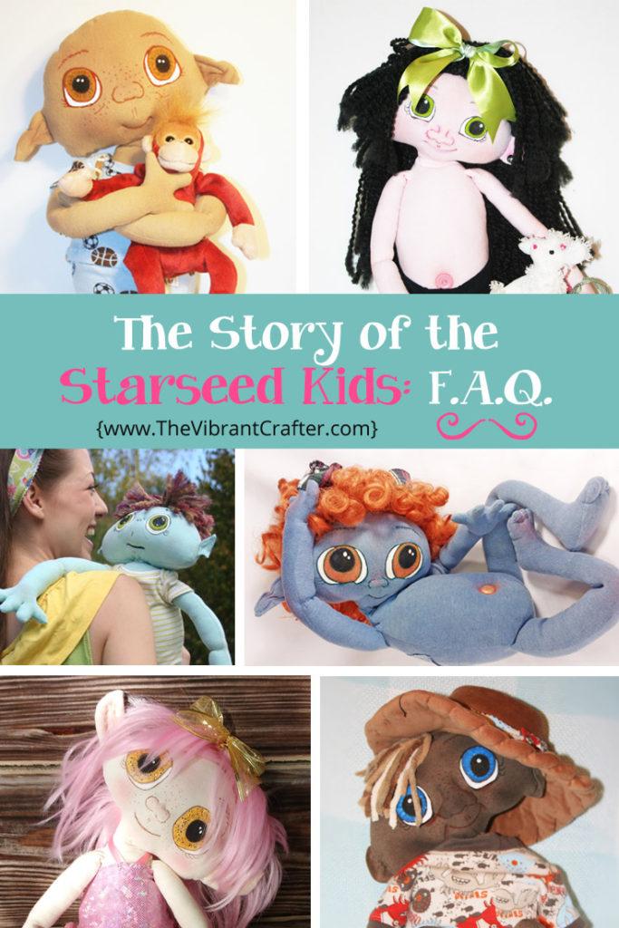 Starseed Kids OOAK Hand Made Art Dolls