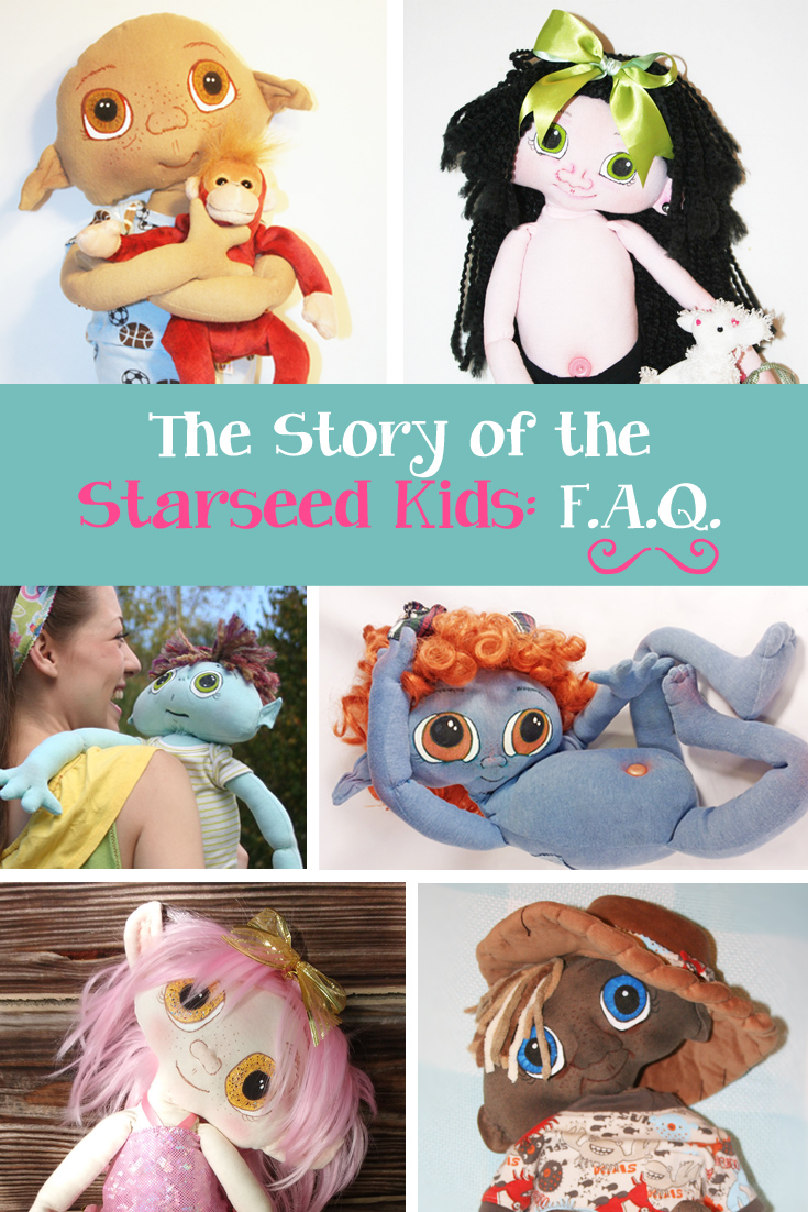 Starseed Kids OOAK Art Dolls