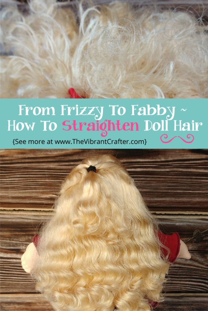 How To Straighten Doll Hair
