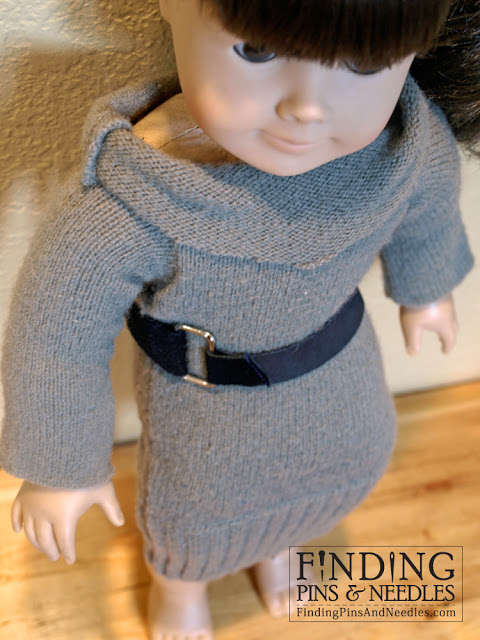 American Girl Sweater Dress from Recycled Sweater