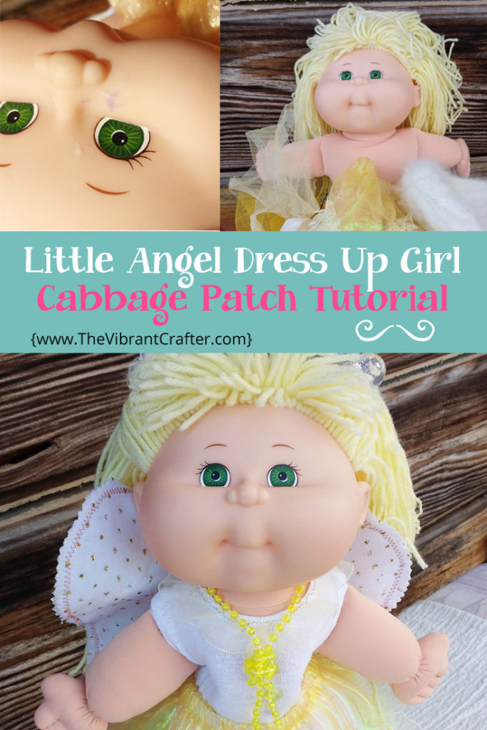 How To Make A Cabbage Patch Angel Doll Free Tutorial The Vibrant