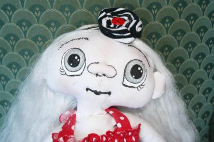 OOAK Fantasy Spirit Goth Cloth Doll