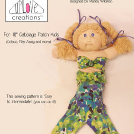 Cabbage Patch Mermaid Outfit Digital Sewing Pattern