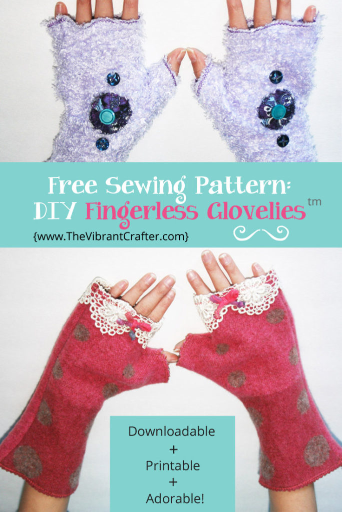 Diy Fingerless Gloves And Arm Warmers My Scrappy 30 Minute Project