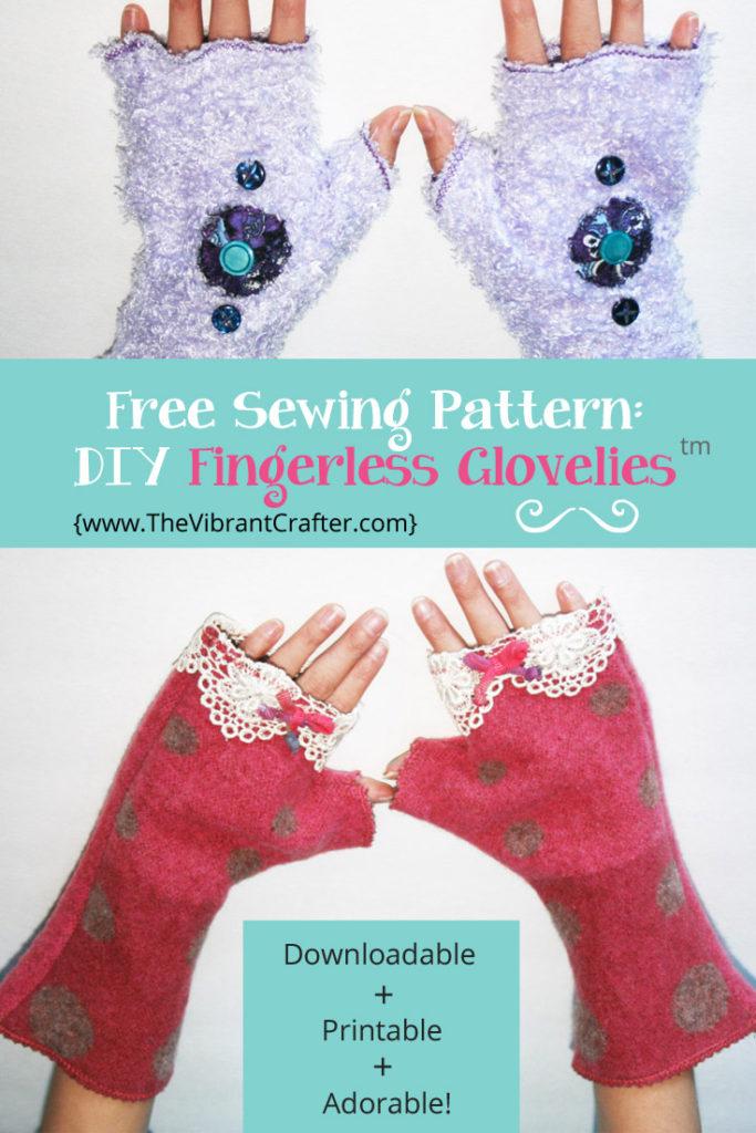Free sewing pattern - DIY Fingerless Gloves
