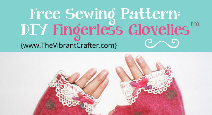 Free sewing pattern - DIY Fingerless Gloves