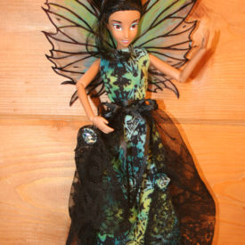 OOAK Upcycled Fairy Wings Fashion Doll