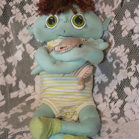 OOAK Alien Fantasy Baby Cloth Doll