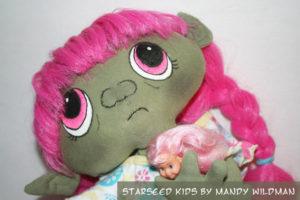 Unique Alien Fantasy Baby Cloth Doll