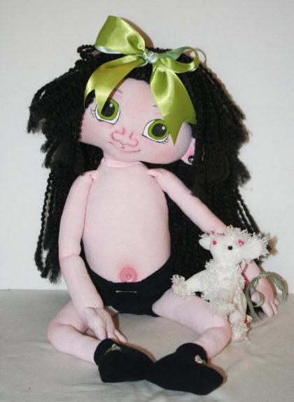 OOAK Alien Fantasy Baby Cloth Doll