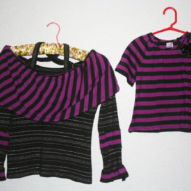 OOAK Upcycled Purple Twinning Tops