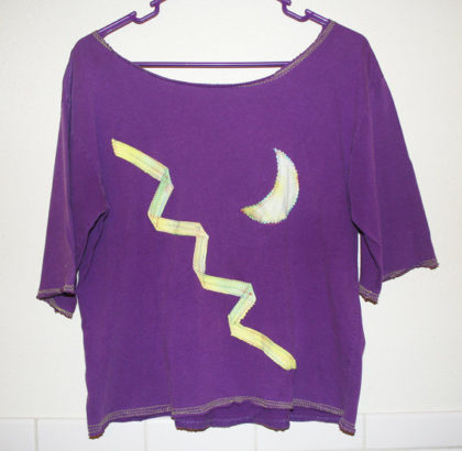 OOAK Upcycled Purple Witch Pagan Blouse