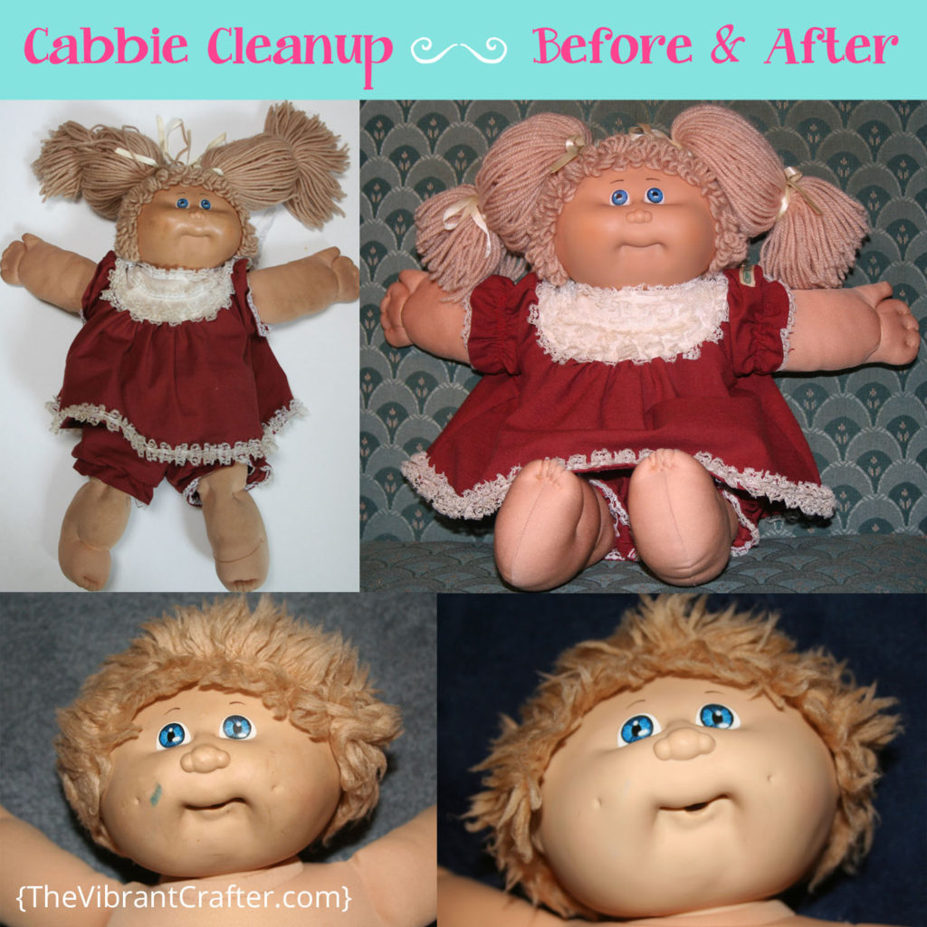 how to clean a cabbage patch doll before and after pics