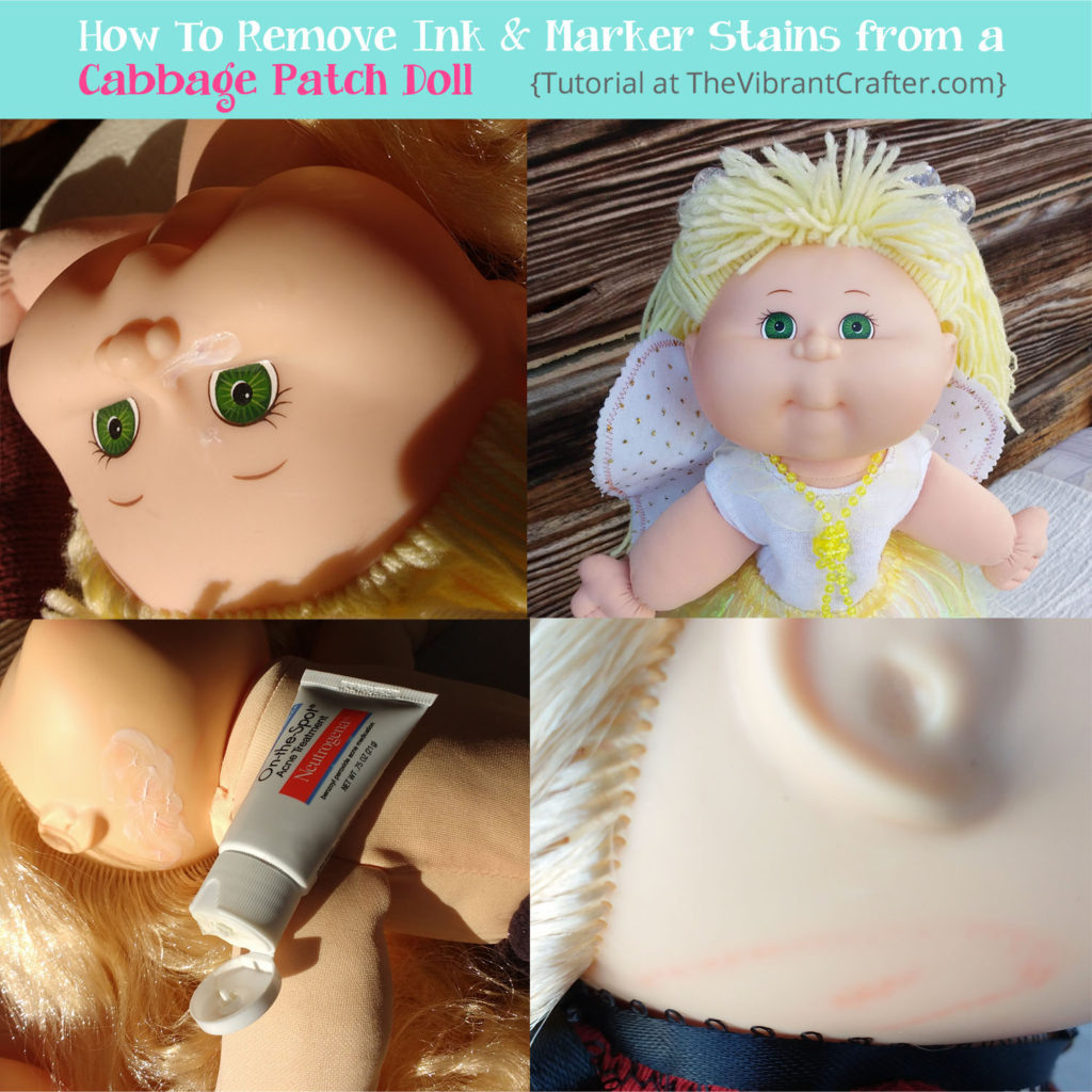 how to clean ink stains from a cabbage patch doll