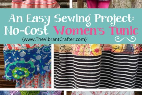 Easy 90 Minute Sewing Project: Upcycled Tunic Top for Women XS-3XL