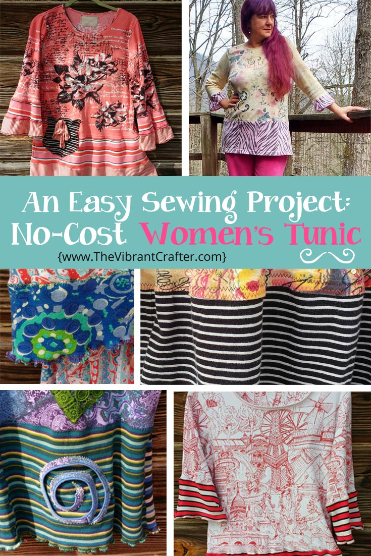 How To Make a Free Women's Tunic L-3XL