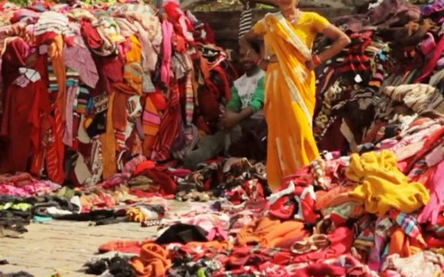 Discarded clothing shipped to India