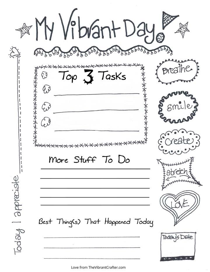 Vibrant Daily Task List