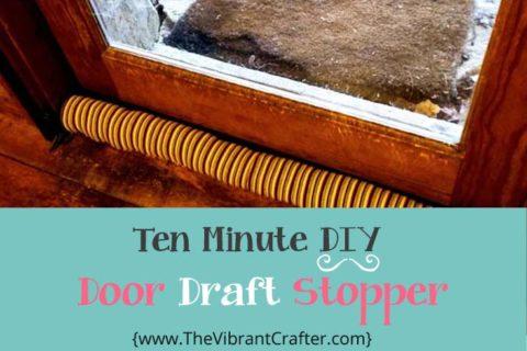 10 Minute Free DIY Door Draft Stopper Project