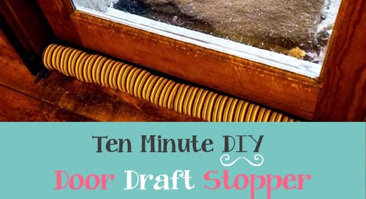 DIY Door Draft Stopper