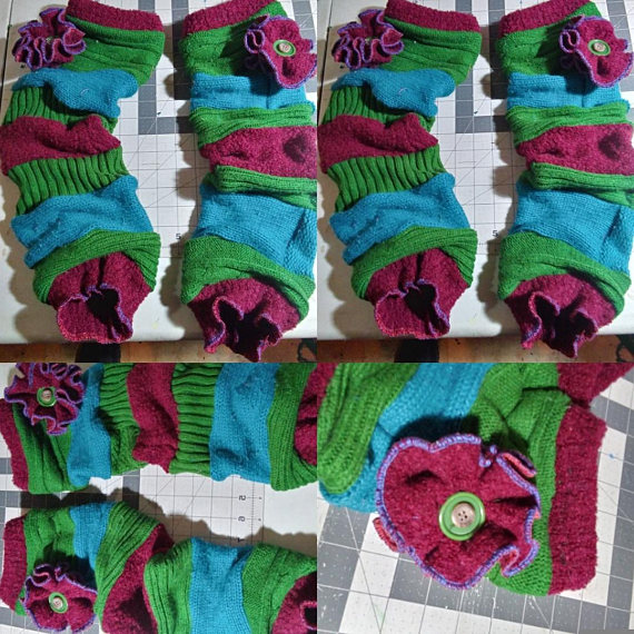 upcycled clothing - leg warmers