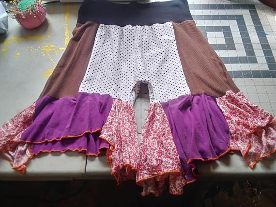 Upcycled clothing - bloomer shorts