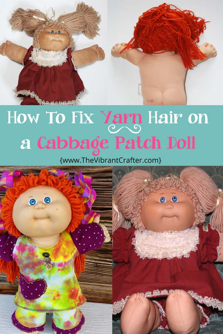 Cabbage Patch Kid Yarn Hair - How To Fix Cabbage Patch Kid Hair