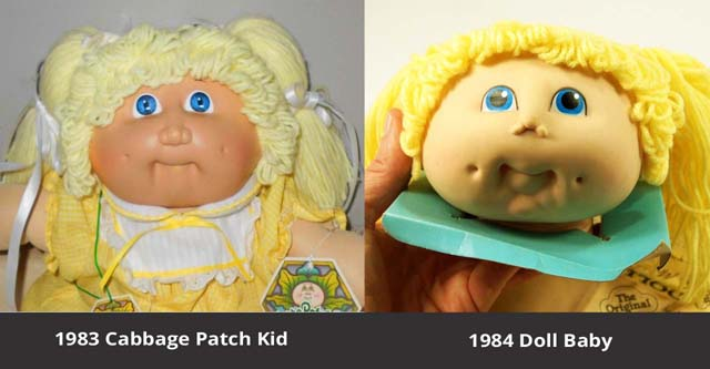 1983 Cabbage Patch Kid and 1984 Doll Baby