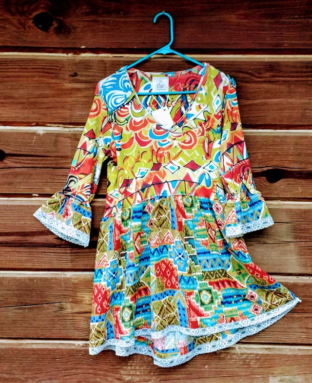 upcycled tunic dress