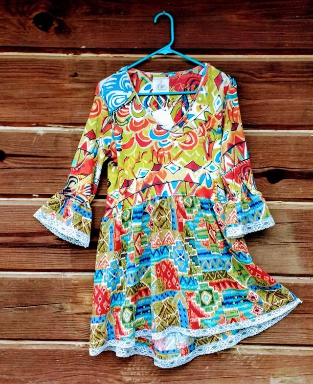 upcycled tunic dress